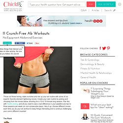 11 Crunch-Free Ab Workouts, No-Equipment Abdominal Exercises