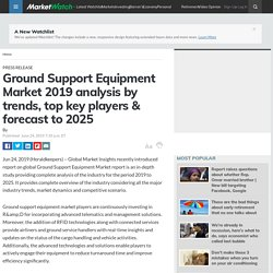 Ground Support Equipment Market 2019 analysis by trends, top key players & forecast to 2025
