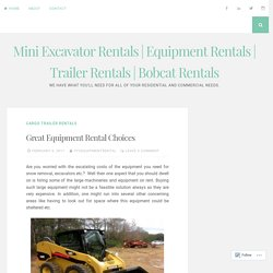 Aerator Rentals and Enclosed Cargo Trailer Rentals