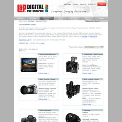 Equipment Rental - L & P Digital Photographic