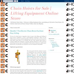 Lifting Equipment Online Store: Durable 3 Ton Electric Chain Hoists Facilitate Easy Lifting