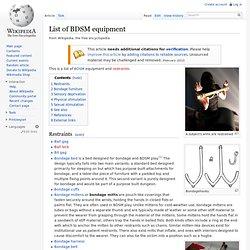 List of BDSM equipment