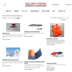 Rescue Equipment - goldenhorsemedicalsupplies.com