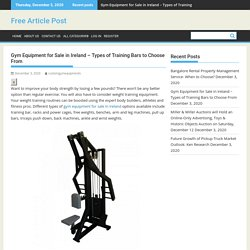 Choose Affordable Gym Equipment for Sale in Ireland