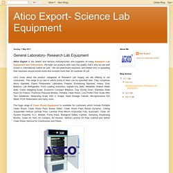 Research Lab Equipment Manufacturer