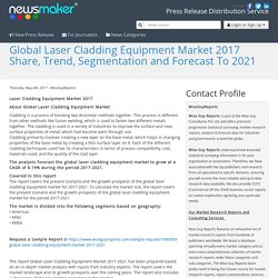 Global Laser Cladding Equipment Market 2017 Share, Trend, Segmentation and Forecast To 2021