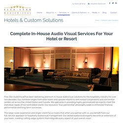 Hotel Audio Visual Equipment Services