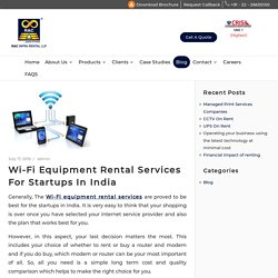 Wifi on Rent with Affordable Price in India