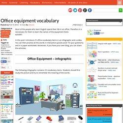 Office equipment vocabulary
