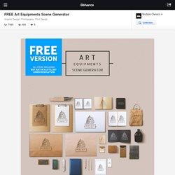 FREE Art Equipments Scene Generator on Behance