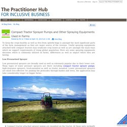 Compact Tractor Sprayer Pumps and Other Spraying Equipments Used in Farms - THE PRACTITIONER HUB