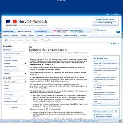 Équitation : la TVA passe à 20 % - service-public.fr