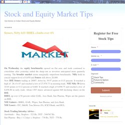 Stock and Equity Market Tips: Sensex, Nifty fell