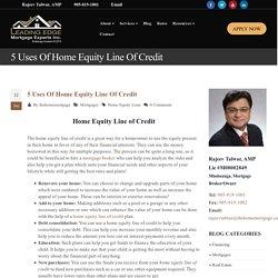 Home Equity Line of Credit Mississauga, Burlington - HELOC Burlington!