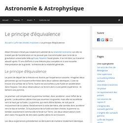 Le principe d'équivalence - Astronomie & Astrophysique