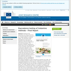 EUROPE - 2014 - Equivalence testing of histamine methods - Final Report