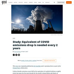 8 mars 2021 Study: Equivalent of COVID emissions drop is needed every 2 years