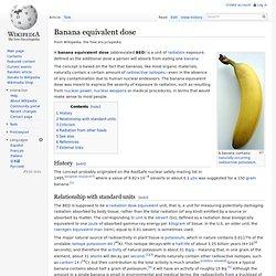 Banana equivalent dose