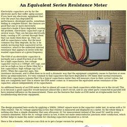 Equivalent Series Resistance Meter