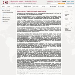 OIE - AVRIL 2011 - L'odyssée de l'éradication de la peste bovine