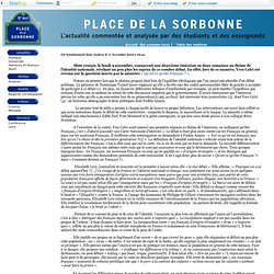 Place de la Sorbonne - «Eradiquer à la schlag» : l'autre visag