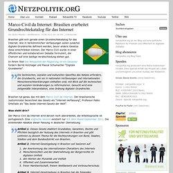 Marco Civil da Internet: Brasilien erarbeitet Grundrechtekatalog für das Internet