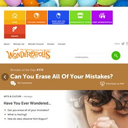 Can You Erase All Of Your Mistakes?