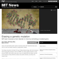 Erasing a genetic mutation