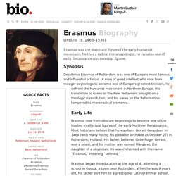 Erasmus - Biography - Linguist