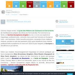Stages ERASMUS + -Lycée des métiers de la Vente et du Commerce Jean François Cail