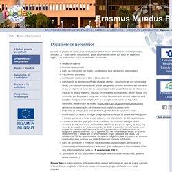 Erasmus Mundus PUEDES - Documentos necesarios