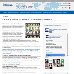 L'agence Erasmus+ France / Education Formation