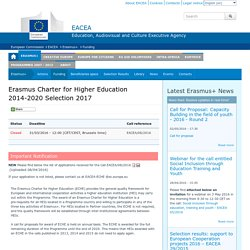Erasmus Charter for Higher Education 2014-2020 Selection 2017