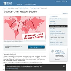 Erasmus+ Joint Master's Degree