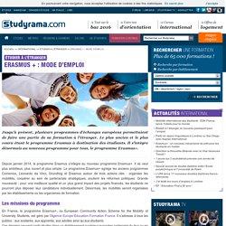 Erasmus + : mode d'emploi