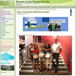 Erasmus: 4 élèves de Bac Pro ASSP Structure en Finlande - Lycée René Char - Avignon