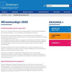 #Erasmusdays 2020 - Actualités - Erasmus +, le programme pour l'éducation, la formation, la jeunesse et le sport de la Commission européenne