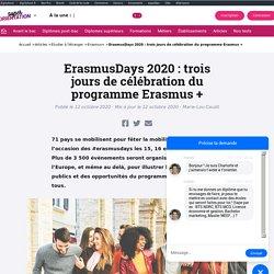 ErasmusDays 2020 : 3 jours pour découvrir le programme Erasmus+