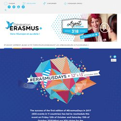 #Erasmusdays EN - Erasmus+ Le programme européen d'éducation et de formation pour tous les publics