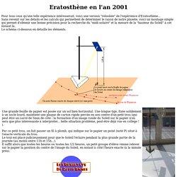 Eratosthène... en l'an 2000