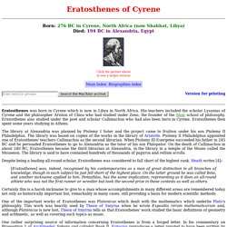 Eratosthenes biography