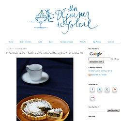Erbazzone dolce : tarte sucrée à la ricotta, épinards et amaretti
