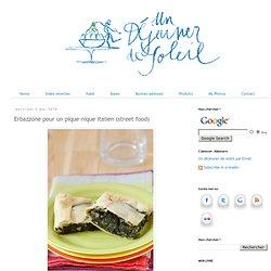 Erbazzone pour un pique-nique italien (street food)