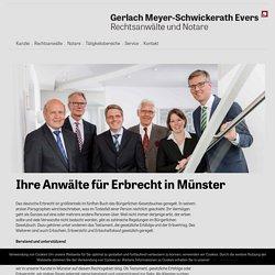Erbrecht in Münster – Gerlach Meyer-Schwickerath Evers