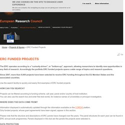 ERC Funded Projects