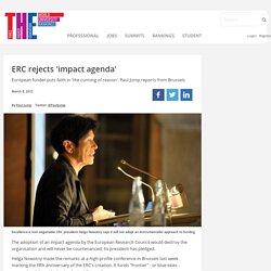 ERC rejects 'impact agenda'