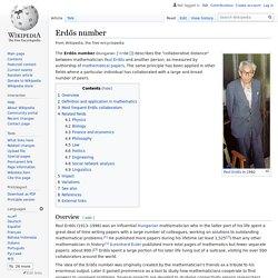 Numéro d'Erdős
