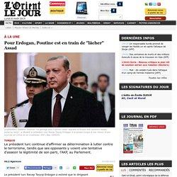 """Pour Erdogan, Poutine est en train de """"lâcher"""" Assad"""
