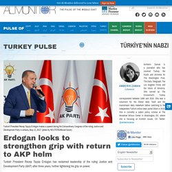 Erdogan looks to strengthen grip with return to AKP helm