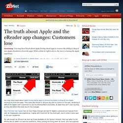 The truth about Apple and the eReader app changes: Customers lose